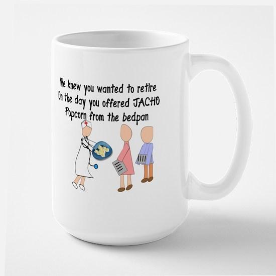 Retired Nurse Story Art Large Mug