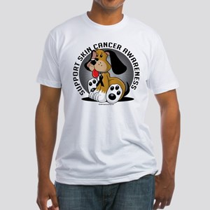 Skin Cancer Dog Fitted T-Shirt