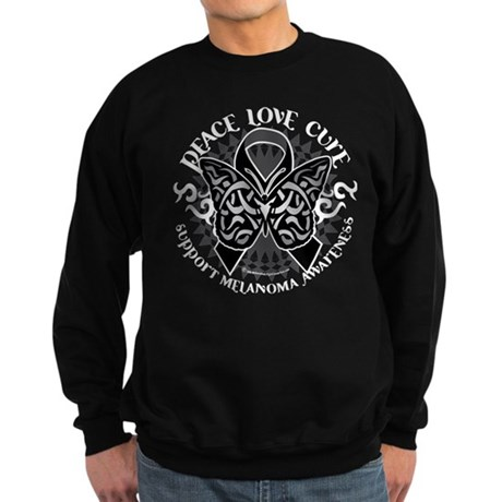 Skin Cancer Tribal Butterfly Sweatshirt (dark)