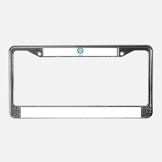 Democrats 2010 License Plate Frame