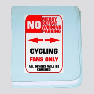 NO PARKING Cycling Sign Infant Blanket