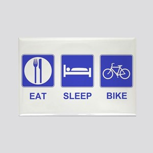 Eat Sleep Bike Rectangle Magnet