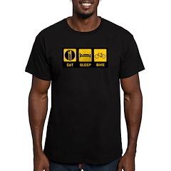 Eat Sleep Bike Men's Fitted T-Shirt (dark)