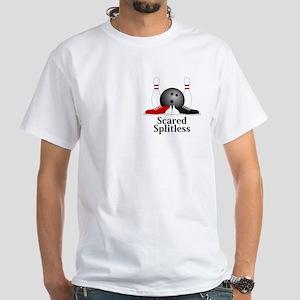 Scared Splitless Logo 15 White T-Shirt Design Fron