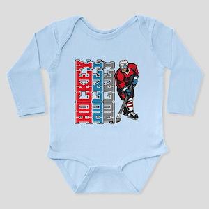 Hockey Sport Long Sleeve Infant Bodysuit