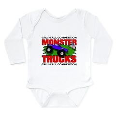 Monster Truck Crush Long Sleeve Infant Bodysuit