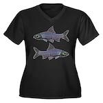 Congo Barb Line draw Invertx2 Plus Size T-Shirt
