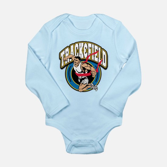 Track and Field Logo Long Sleeve Infant Bodysuit