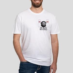 All Balls No Glory Logo 4 Fitted T-Shirt Design Fr