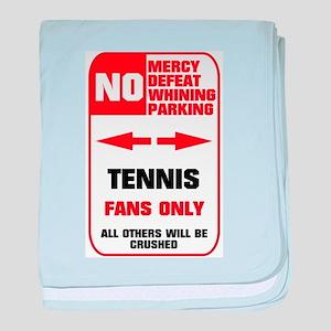 no parking tennis baby blanket