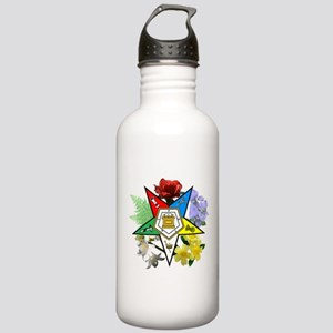 Eastern Star Floral Emblems Stainless Water Bottle