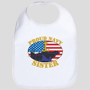Proud Navy Sister Bib