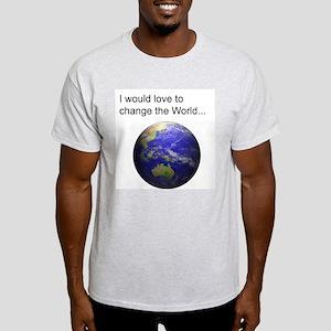 Change The World Ash Grey T-Shirt