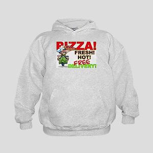 Pizza Sign Kids Hoodie