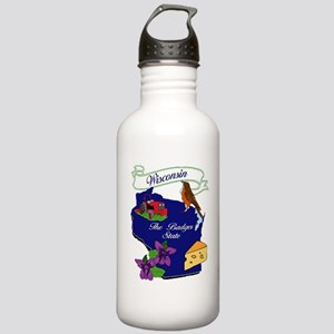 Wisconsin state Stainless Water Bottle 1.0L