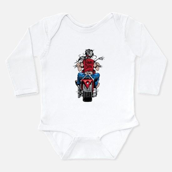 Biker Chick Long Sleeve Infant Bodysuit