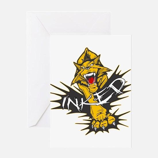 Inked Tiger Greeting Card