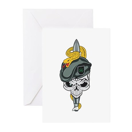 Special Forces Skull Greeting Cards (Pk of 20)