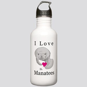 I Love Manatees Stainless Water Bottle 1.0L
