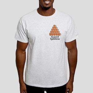 Scared Splitless Logo 7 Light T-Shirt Design Front