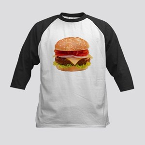 yummy cheeseburger photo Kids Baseball Jersey