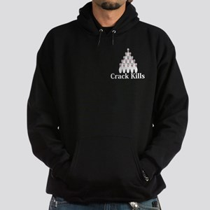 Crack Kills Logo 9 Hoodie (dark) Design Front Pock