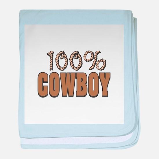 100% Cowboy Infant Blanket