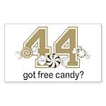 Got Free Candy Sticker (Rectangle 50 pk)
