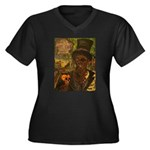 Baron Samedi Women's Plus Size V-Neck Dark T-Shirt
