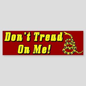 """""""Don't Tread On Me!"""" Sticker (Bumper)"""