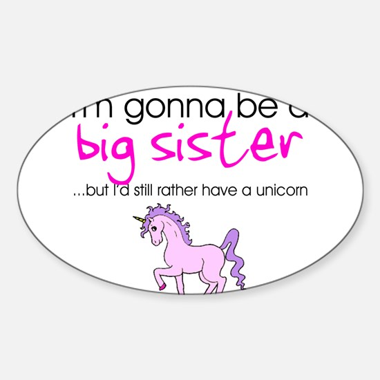 Cute Big sister to be Sticker (Oval)