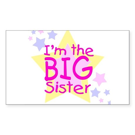 I'm the Big Sister Sticker (Rectangle)