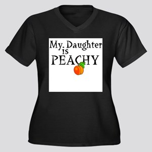 My Daughter is Peachy Women's Plus Size V-Neck Dar