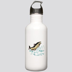 trout fish jumping Stainless Water Bottle 1.0L