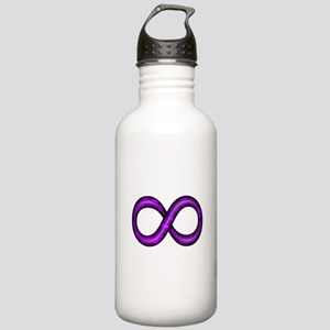 Purple Infinity Symbol Stainless Water Bottle 1.0L