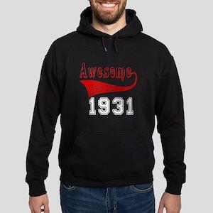 Awesome Since 1931 Birthday Designs Hoodie (dark)