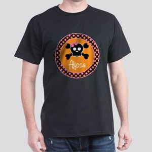Personalized Punk Princess Skull Dark T-Shirt