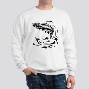 trout fish jumping Sweatshirt