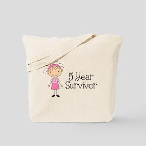 5 Yr Survivor Breast Cancer Tote Bag