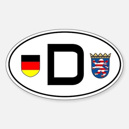 Germany car sticker (Hessen variant)