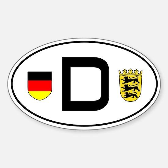 Germany car sticker (Baden-Wuerttemberg variant)