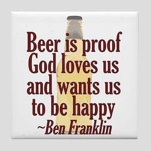 Beer is Proof Tile Coaster