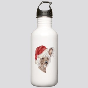 Christmas Chinese Crested dog Stainless Water Bott