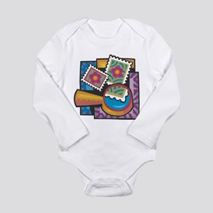Stamp Collector Long Sleeve Infant Bodysuit