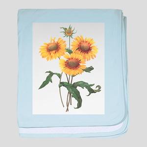 Redoute Sunflowers Infant Blanket