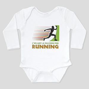 Passion for Running Long Sleeve Infant Bodysuit