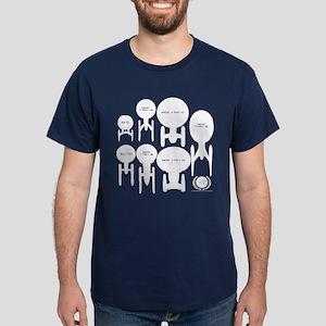 USS Enterprise History Dark T-Shirt
