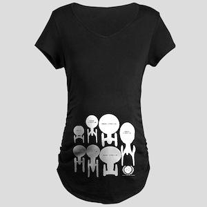 USS Enterprise History Maternity Dark T-Shirt