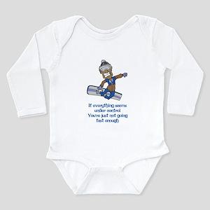 Not Going Fast Enough Long Sleeve Infant Bodysuit