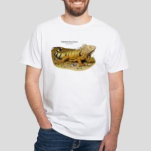 Green Iguana White T-Shirt